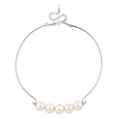 Mood - Five pearl silver bar necklace