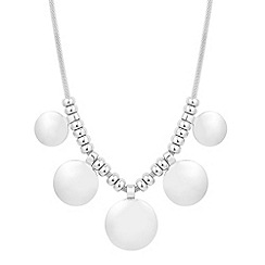 Mood - Graduated polished disc drop necklace
