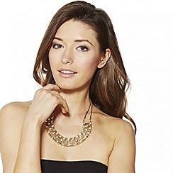 Mood - Crystal set gold wave link necklace