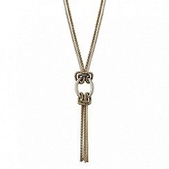 Mood - Long mesh chain oval link necklace