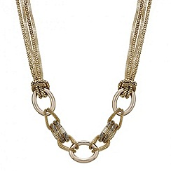 Mood - Mesh chain triple oval link necklace
