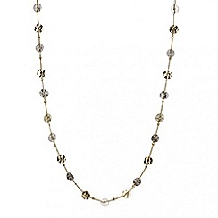 Mood - Long mixed metal disc woven necklace