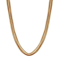 Mood - Mixed gold chain multirow necklace