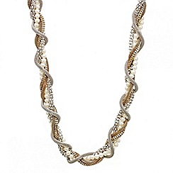 Mood - Mixed mesh pearl twist necklace