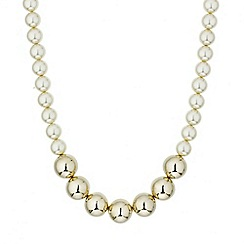 Mood - Polished gold bead and pearl necklace