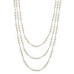 Mood - Facet bead and pearl triple row necklace