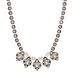 Mood - Frosted five stone cluster drop necklace