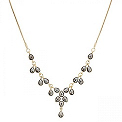 Mood - Hematite tear shaped droplet necklace