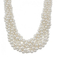 Mood - Chunky cream pearl twist necklace