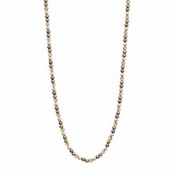 Mood - Tonal pearl and facet bead long necklace
