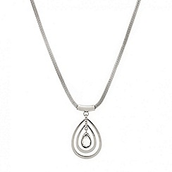 Mood - Crystal teardrop polished surround necklace