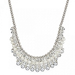Mood - Pearl and bead encased bar necklace