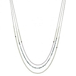 Mood - Coloured bead and pearl multi row necklace