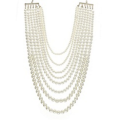 Mood - Statement graduated pearl multi row necklace