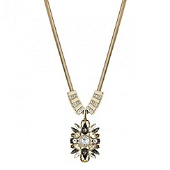 Mood - Crystal cluster surround pendant necklace