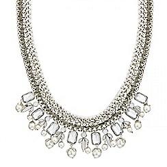 Mood - Cord wrap crystal pearl drop necklace