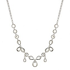 Mood - Round crystal and teardrop necklace