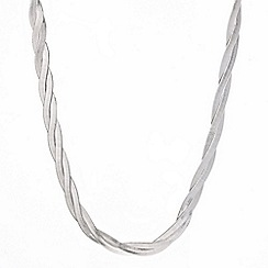 Mood - Plaited silver snake chain necklace