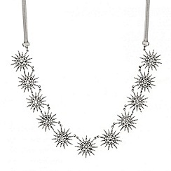 Mood - Crystal embellished starburst necklace