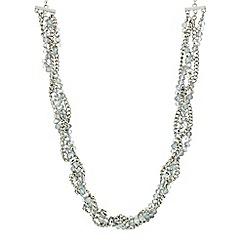Mood - Blue bead chain twist necklace