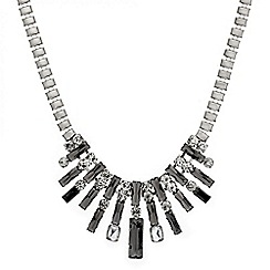 Mood - Statement grey crystal stick necklace