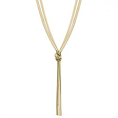 Mood - Double row gold snake chain lariat necklace