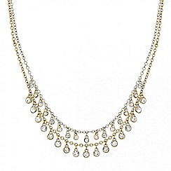 Mood - Crystal droplet double row necklace