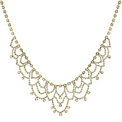 Mood - Statement diamante crystal gold loop necklace
