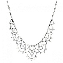 Mood - Vintage style diamante looped necklace