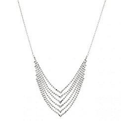 Mood - Diamante crystal back chain drop necklace