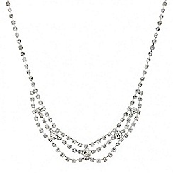 Mood - Diamante crystal mini three loop necklace