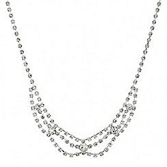 Mood - Diamante crystal mini three loop necklace