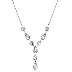 Mood - Diamante crystal surround teardrop necklace