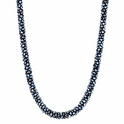 Mood - Blue facet bead cluster necklace