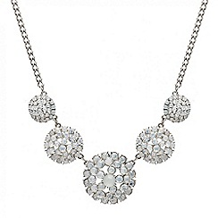 Mood - Opalesque round stone cluster drop necklace