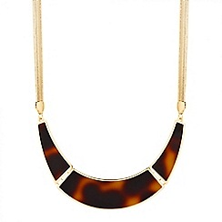 Mood - Tortoiseshell effect curved bar necklace