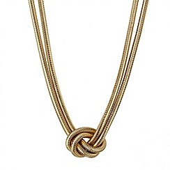 Mood - Chunky gold chain knot necklace