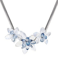 Mood - Statement triple beaded flower necklace