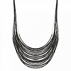 Mood - Jet seed bead multirow necklace