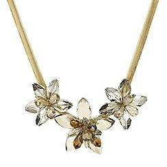Mood - Statement triple gold flower necklace