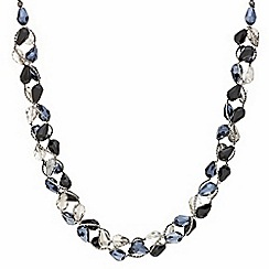 Mood - Blue tonal facet bead twist necklace