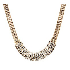 Mood - Multi crystal embellished disc necklace