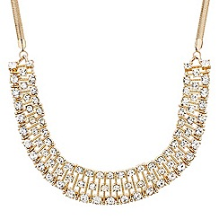 Mood - Crystal encased stick panel necklace