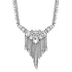 Mood - Crystal stone set tassel drop necklace