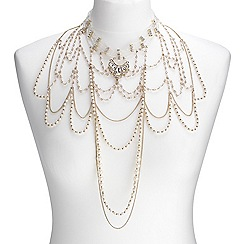 Mood - Online exclusive pearl layered choker drop necklace