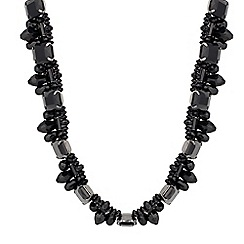 Mood - Jet mixed cluster bead necklace