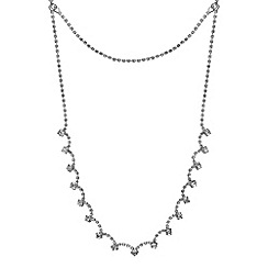 Mood - Diamante crystal multirow back chain necklace