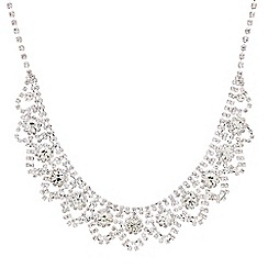Mood - Diamante crystal loop bib necklace