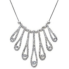 Mood - Elongated crystal embellished teardrop necklace