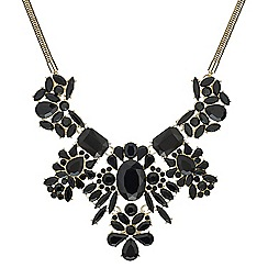 Mood - Mixed jet stone cluster drop necklace